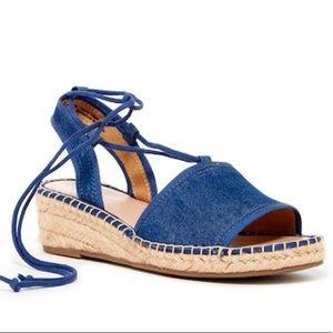 Franco Sarto Liona Lace Up Wedge Espadrille Sandal